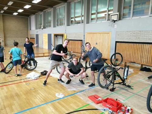 Fahrradreparatur Platen Gymnasium Ansbach